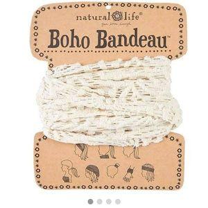 Cream crochet boho bandeau